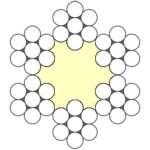 Seilquerschnitt 6x7-FC