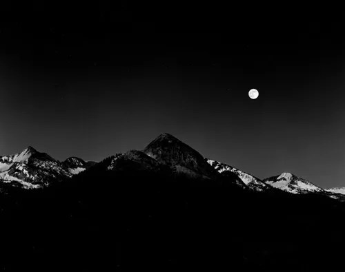Moonrise from Glacier Point - A Yosemite Special Edition Photograph $325