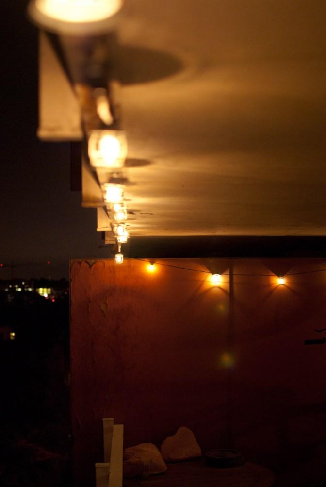 Neat lights on balcony