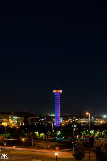 Tower as seen at night