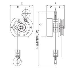 Hook Suspension Chain Hoist :: Sparkproof Range :: Ansell
