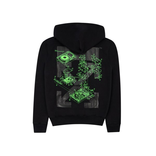 OFF-WHITE x Pioneer Console Hoodie Black