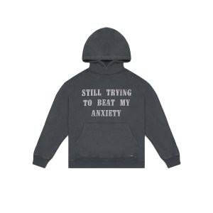 Flaneur anxiety hoodie front