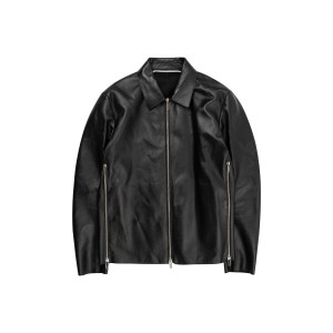 Off White leather jacket front