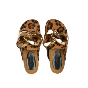 J.W Anderson Chain Loafer Leopard