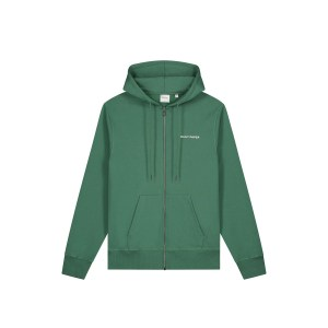 Daily Paper zip up hoodie green front