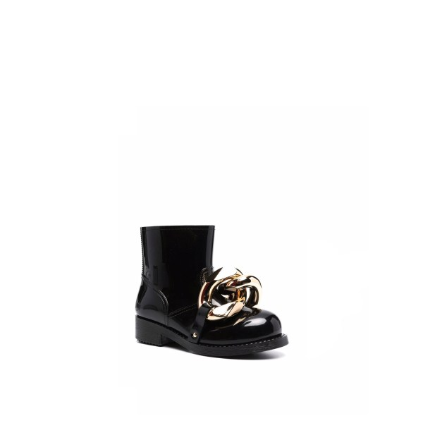 JW Anderson Chain Rubber Boots Black