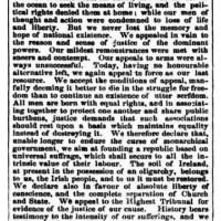 Proclamation Of The Irish Republic, 1867