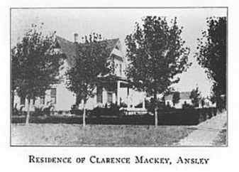 Residence of Clarence Mackey, Ansley, Nebraska