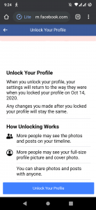 Unlock Your Facebook Profile