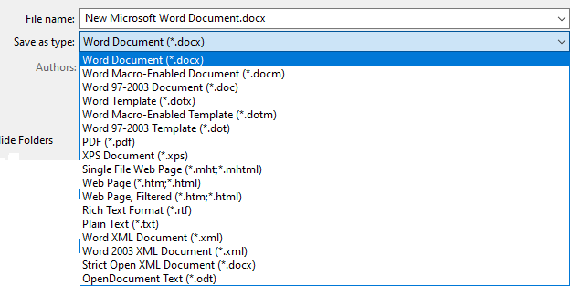 Convert Word Document to a PDF