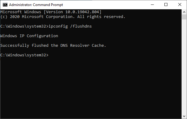 How to flush dns in windows 10