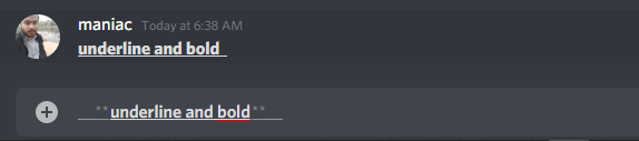 Underline and Bold in Discord
