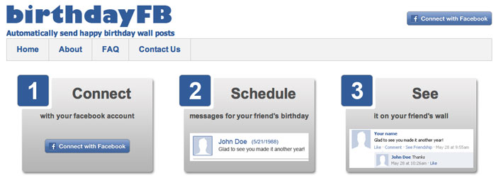 Automatic Facebook Birthday Wishes