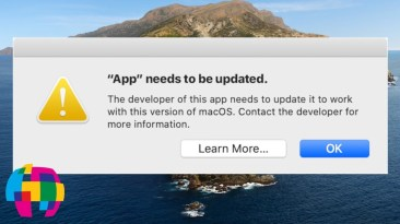 "App ""Needs To Be Updated"" Error Info – macOS 10.15 Catalina"