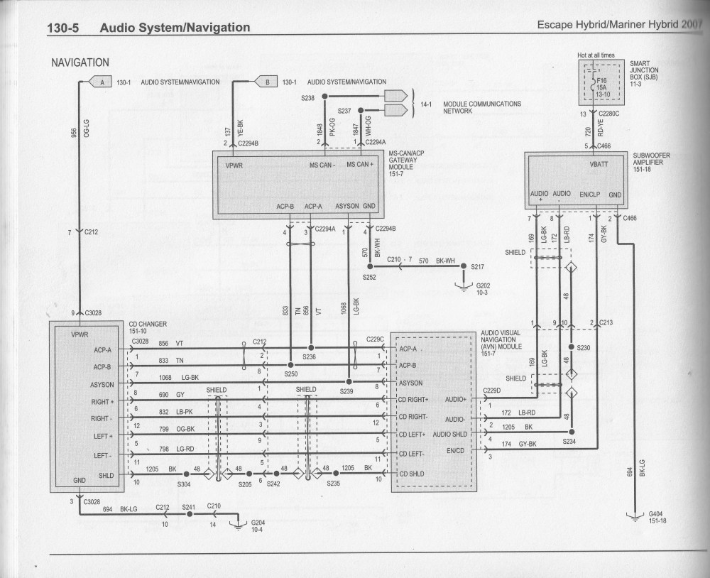 medium resolution of 2007 ford escape hybrid wiring diagram