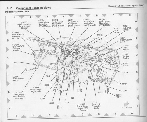small resolution of 2007 ford escape hybrid wiring diagram and component locations