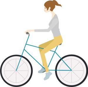 サイクリング女性