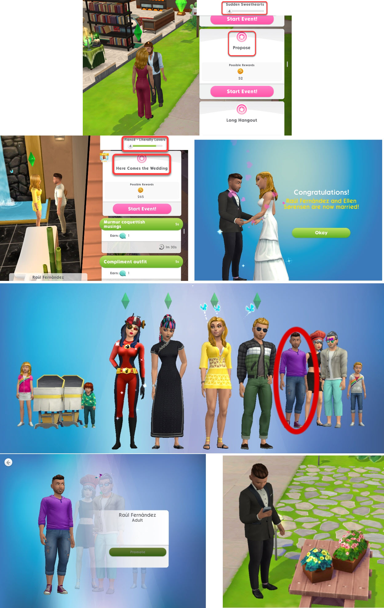 How do you get married in I am sims 3 am on iPad? - Answers