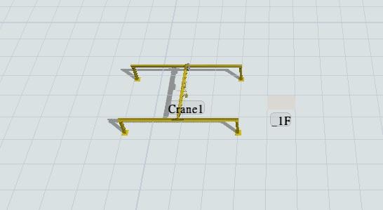 Crane dismantled into three parts when move into
