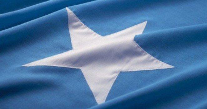 close-up of the flag of somalia