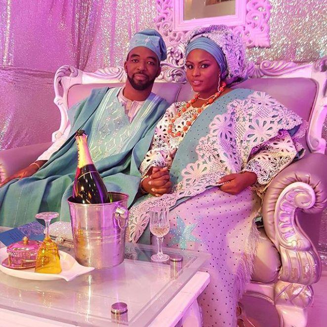 Typical Yoruba bride and groom