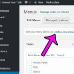 how to create a menu in wordpress