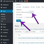 How to Show More Posts Per Page in the Admin Section of WordPress