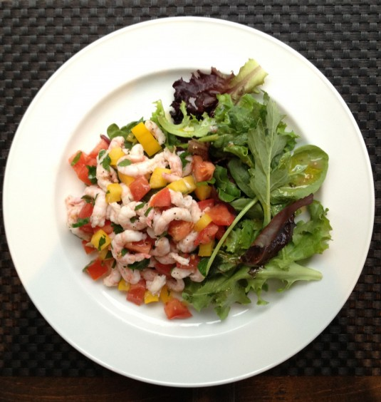 paleo diet challenge day 16 shrimp salad
