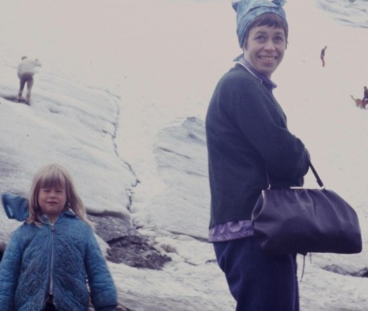 Kris with Mom 1970s