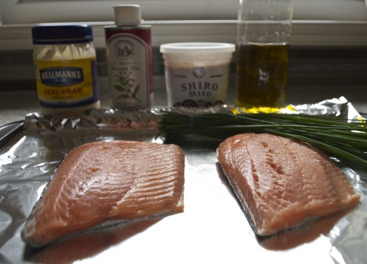 broiled salmon misonese ingredients