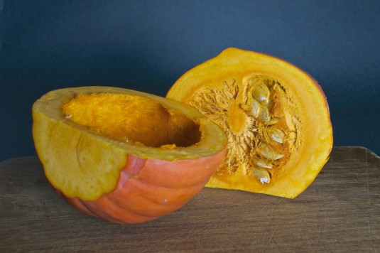red kuri squash for coconut curry soup