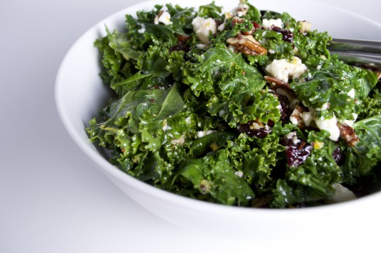 Kale Salad with Orange Vinaigrette • Ant & Anise