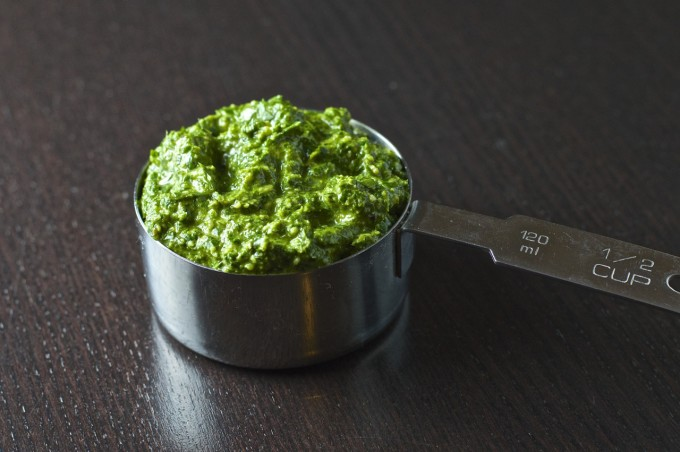 Tarragon Pesto In Measuring Cup