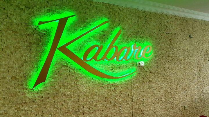 Kabare restaurant led logo