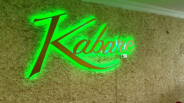Kabare restaurant led logo