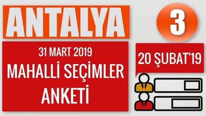 Antalya Seçim Anketi (3) Antalya'da Muhittin Böcek Üstünlüğünü Sürdürüyor