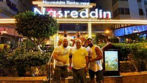 Vücut Geliştirme Sporcuları Emin Çapan, Emir İnalbay, Buğra Keskin, Mustafa Yıldız Antalya Nasreddin Restoranda