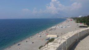 Antalya Varyanttan Konyaaltı Sahili Deniz Manzarası