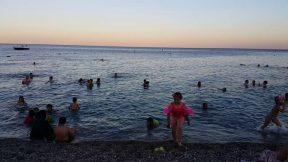 Güneş batarken Konyaaltı Plajı Deniz Manzarası - Antalya Gezi Tatil