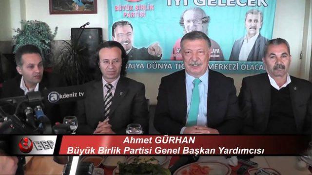Ahmet GÜRHAN BBP Genel Başkan Yardımcısı Hulusi KIZILKAYA Basın Toplantısı