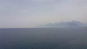 Antalya Atatürk parkı deniz manzarası ve yürüyüş yolu Antalya Tatil Gezi Tur