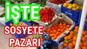 Çakırlar Sosyete Pazarı Meyve Sebze Fiyatları Pazar Gezisi Antalya Tatil street market in Antalya