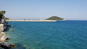 Antalya Küçük Çaltıcak Plajında Deniz ve Ada Manzarası - Antalya Gezilecek Yerleri Tatil