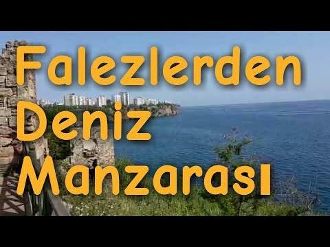 Antalya Falezlerden Deniz Manzarası – Balık Avlama Yeri  ve Türk Bayrağı