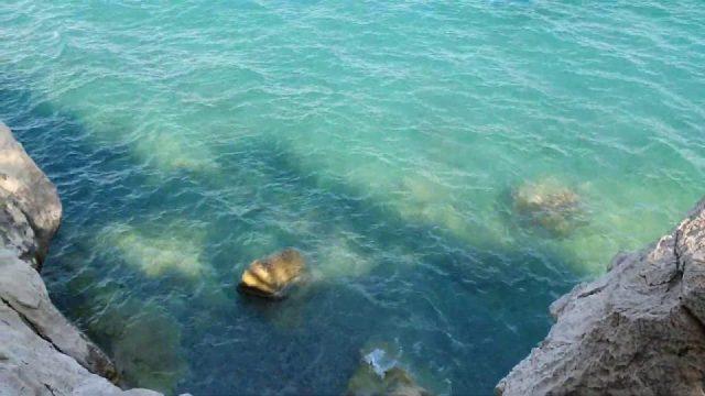 Küçük Çaltıcak Sahili Kayalıklardan Deniz ve Ada Manzarası - Antalya Gezilecek Yerleri