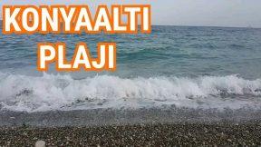 Antalya Konyaaltı Sahilinde Dalga Sesleri Denizin Sesi Antalya Konyaaltı Kumsalı Tatil Gezi Tur