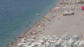 Antalya Varyant Beachpark Deniz Manzarası Konyaaltı Sahili Gezi Tatil