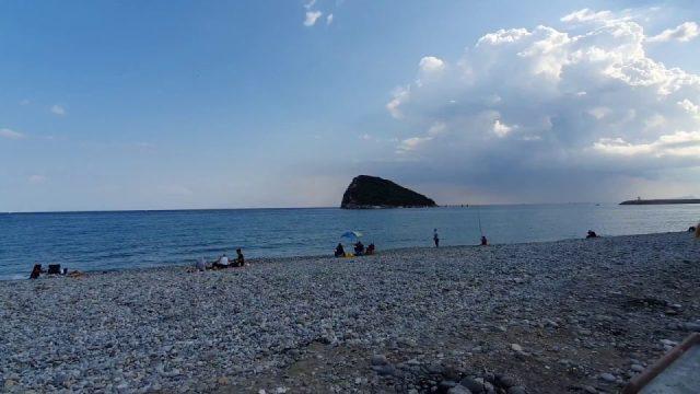 Antalya Topçam Piknik Mangal Alanı Topçam Sahili Deniz ve Ada Manzarası