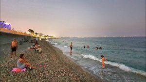 Akşam Üzeri Plaj Manzarası Konyaaltı Sahili Antalya